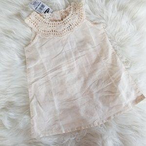 Old Navy   Baby Shift Dress Cream Crochet Detail